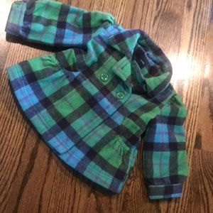 BABY GAP wool plaid pea coat size 12-18 months